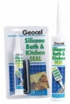 Geocel - Bath and Kitchen Seal Sanitary Silicone Sealant (310ml) - Box of 6