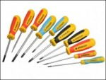 Stanley - Magnum Phillips/Flared/Parallel/PoziDrive Screwdriver Set of 10