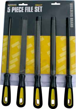 Builders Brand - 5 Piece File Set 200mm