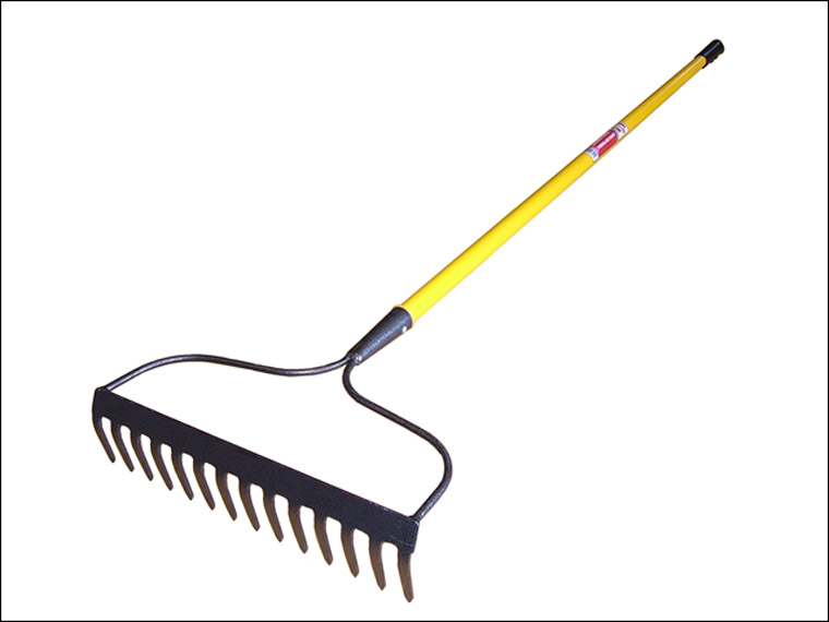 Faithfull Garden Rake Fibreglass Shaft