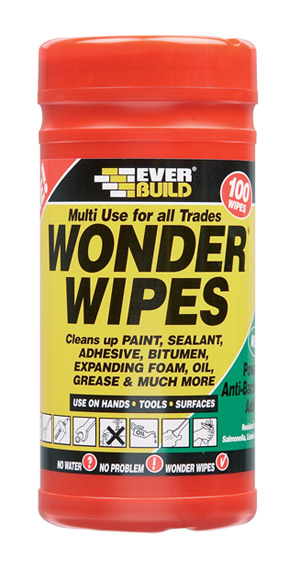 Everbuild - Multi-Use Wonder Wipes 100 - Multi Purpose Building Wipes, Tradesman Wipes